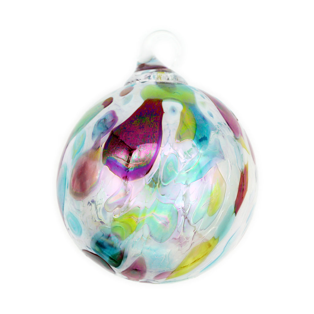 Opal Confetti Blown Glass Ornament