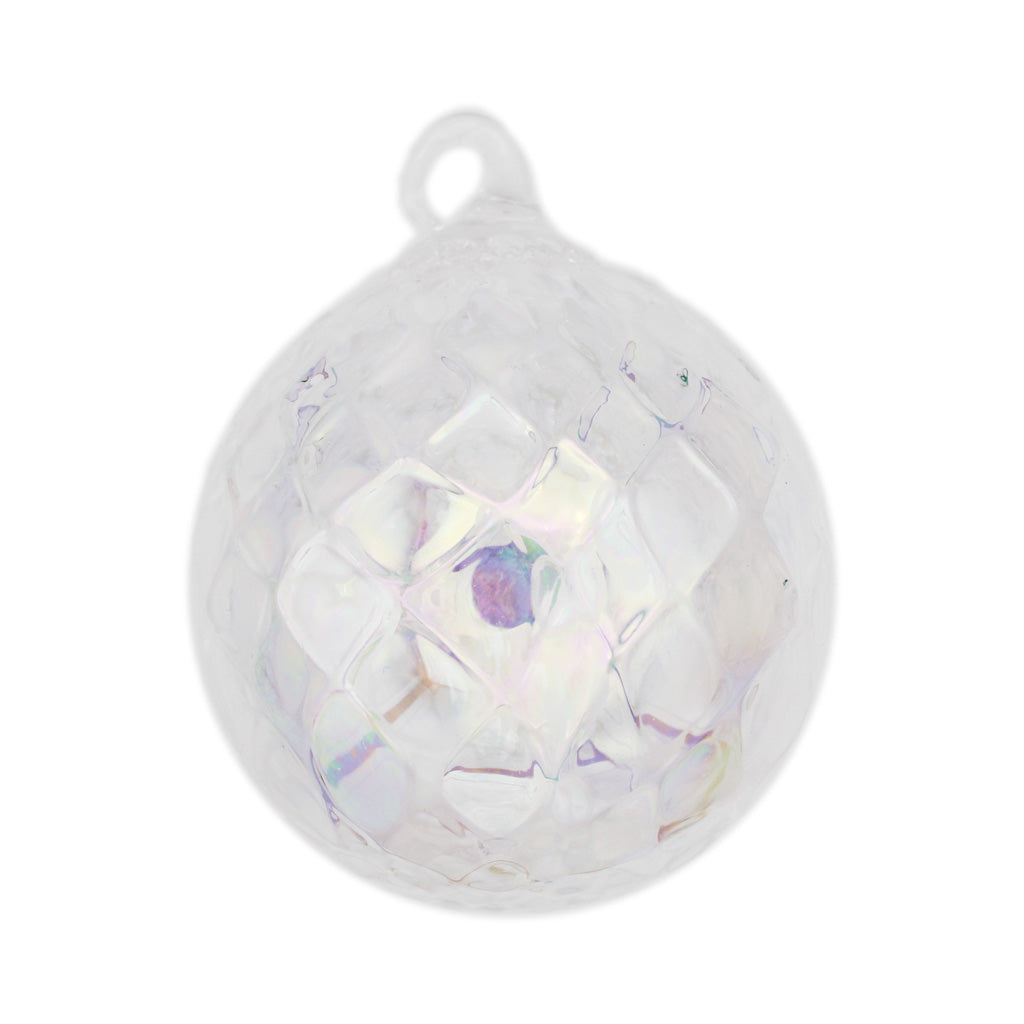 Diamond Illusions Blown Glass Ornament