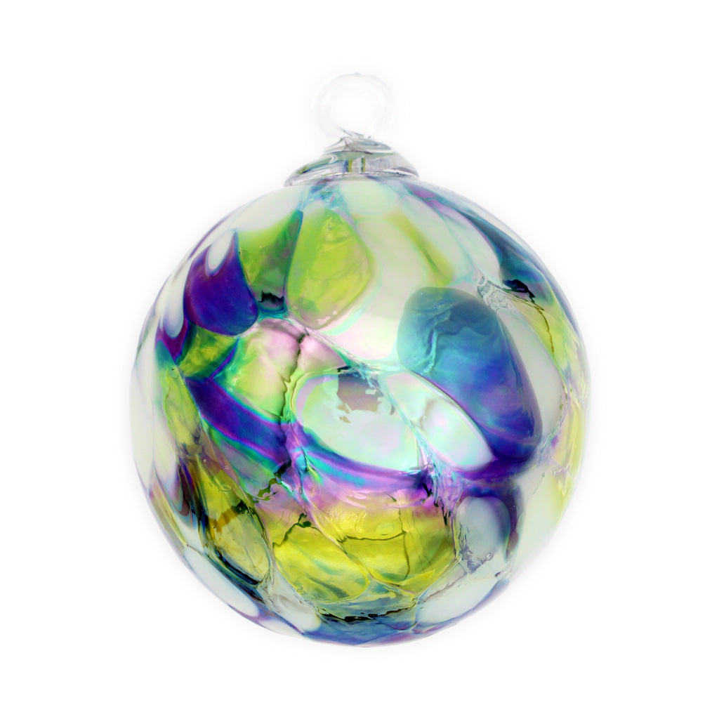 Spring Mum Blown Glass Ornament