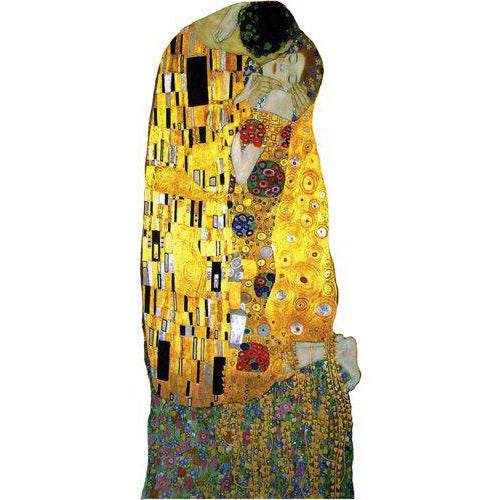 "Klimt ""The Kiss"" Die-Cut Notecard with Stickers"