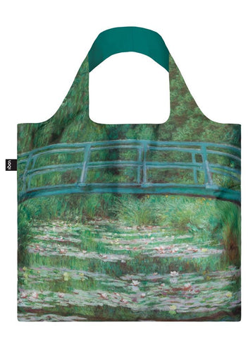 "Claude Monet ""Japanese Footbridge"" Painting Tote Bag"