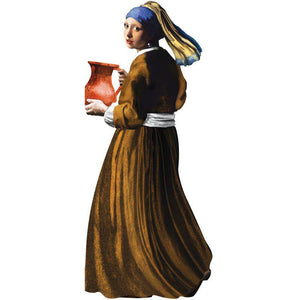 "Vermeer's ""Girl With A Pearl Earring"" Die-Cut Notecard with Stickers"
