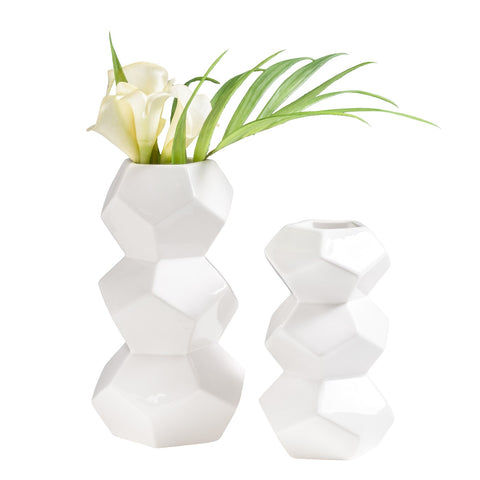 "Stacked ""Orion"" Ceramic Vases"