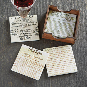 Historic Documents Coaster Set