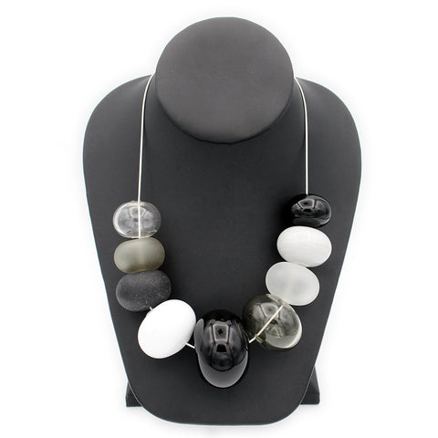 Black & White Bubble Necklace