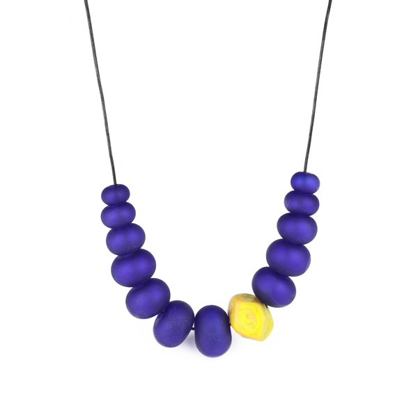 Blue Bubble Nugget Necklace
