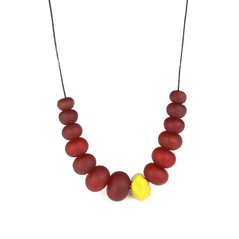 Red Bubble Nugget Necklace