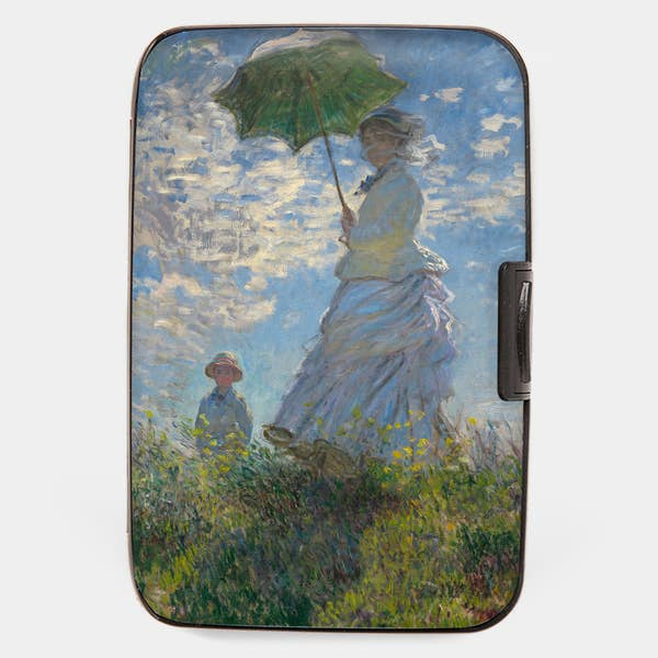 "Armored Wallet: Monet's ""Lady with Parasol"""