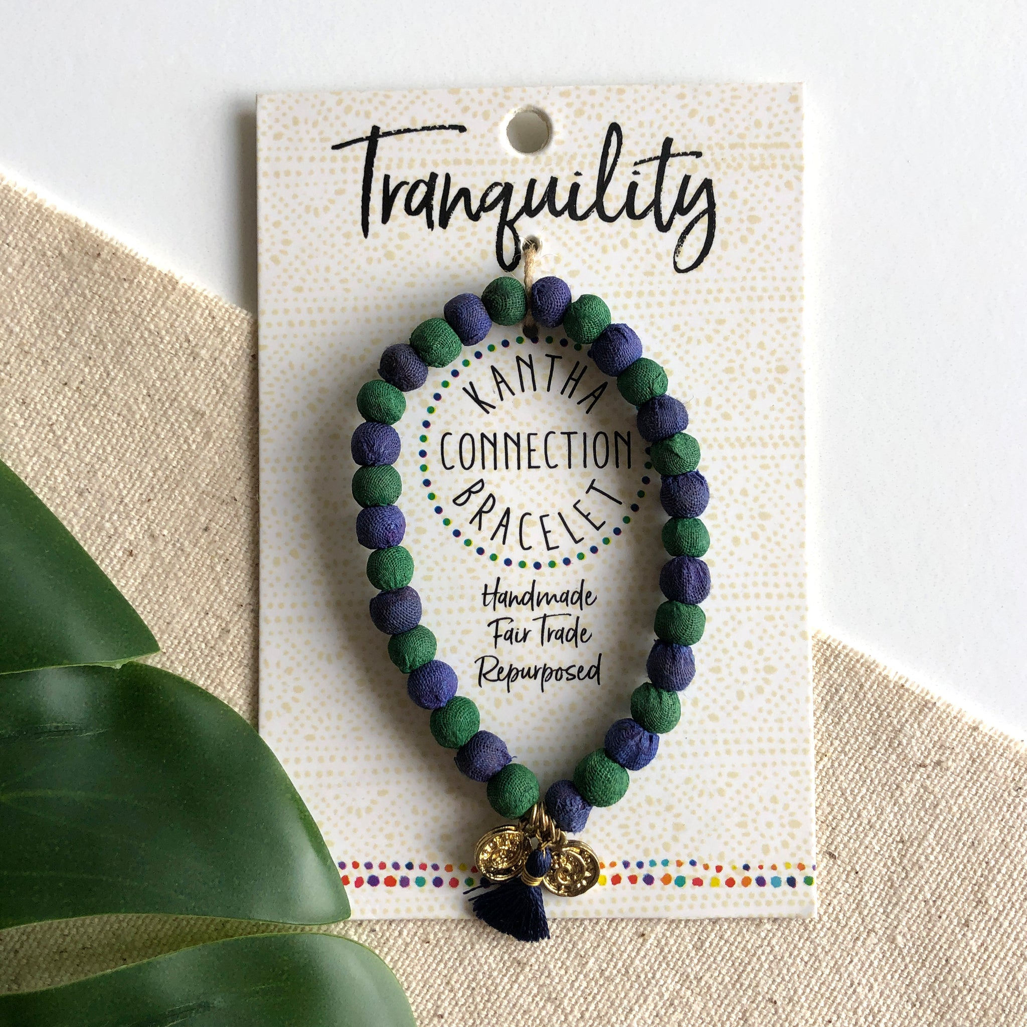 Kantha Connection Bracelet: Tranquility