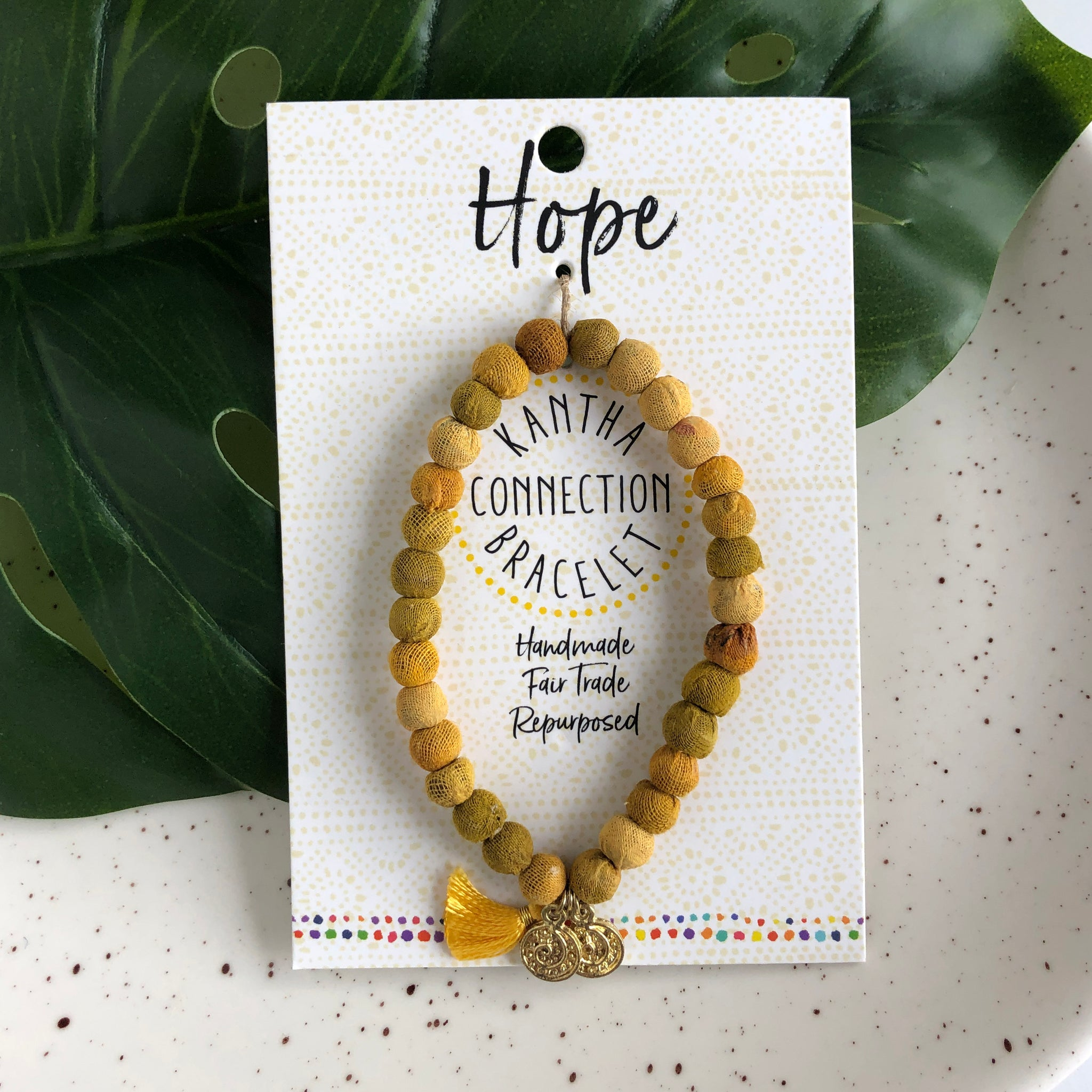 Kantha Connection Bracelet: Hope