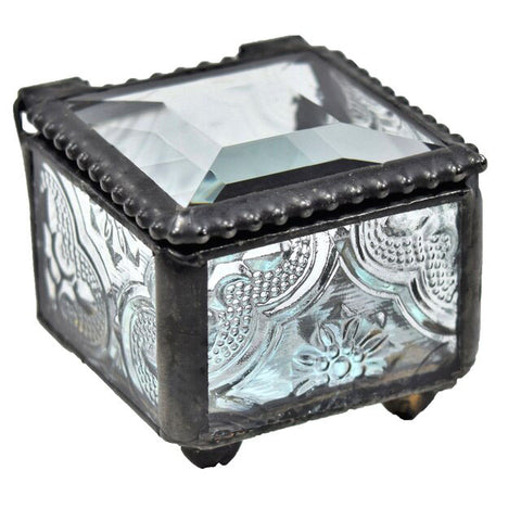 Stained Glass Jewelry Box: Textured Vintage Glass