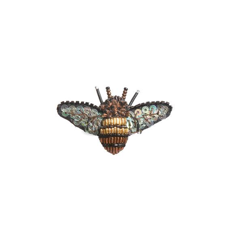 Dazzling Bee Embroidered Brooch