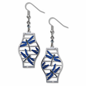 Japanese Dragonfly Lantern Earrings