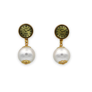 """Time Will Tell"" Pearl Earrings"