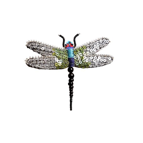 Flutter Fairy Dragonfly Embroidered Brooch