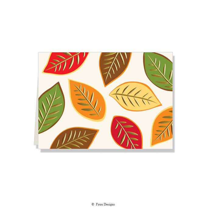 Folded Notes: Autumn Leaves