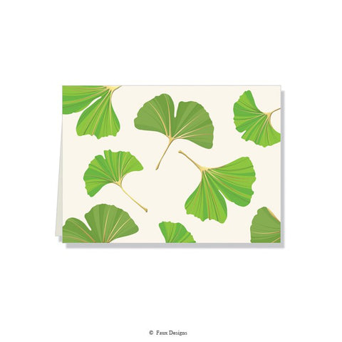 Folded Notes: Ginkgo Leaves