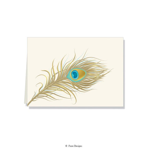 Folded Notes: Peacock Feather