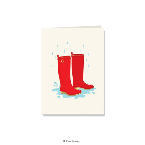 Folded Notes: Red Wellies
