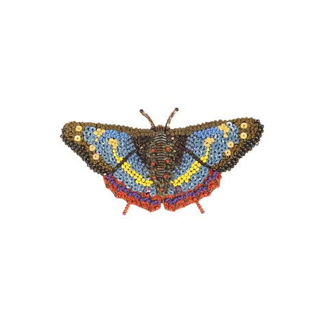 Forest Butterfly Embroidered Brooch