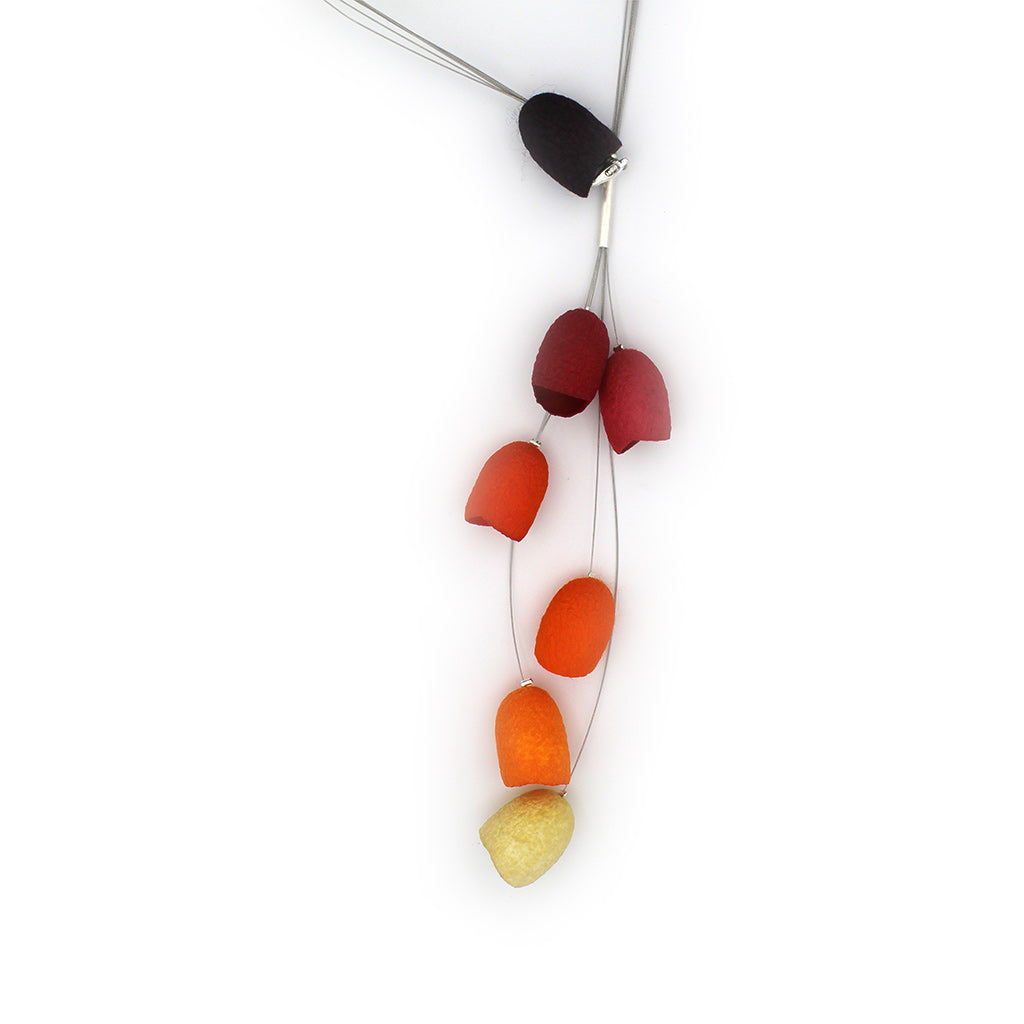 "Silk Necklace: ""Guirnalda"""