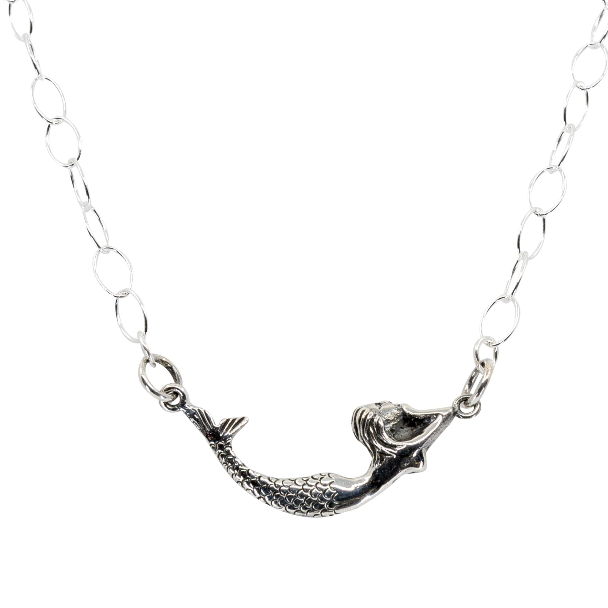 Silver Mermaid Necklace