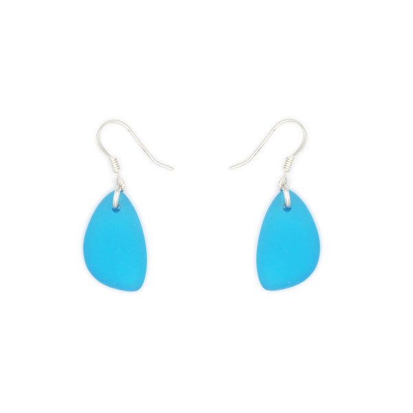 Frosted Glass Small Drop Earrings