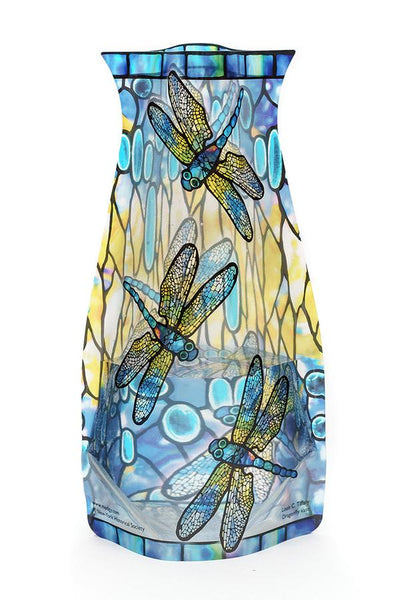 "Tiffany ""Dragonflies"" Expandable Vase"
