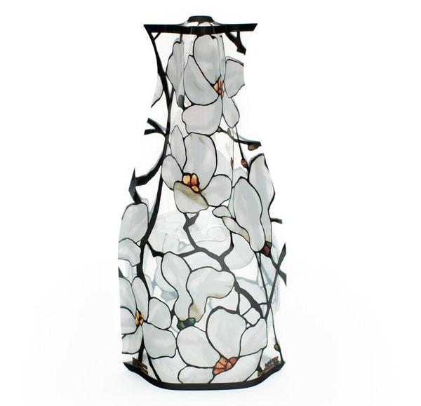 "Tiffany ""Magnolias"" Expandable Vase"