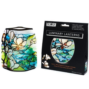 Tiffany Magnolia Landscape Luminary Set
