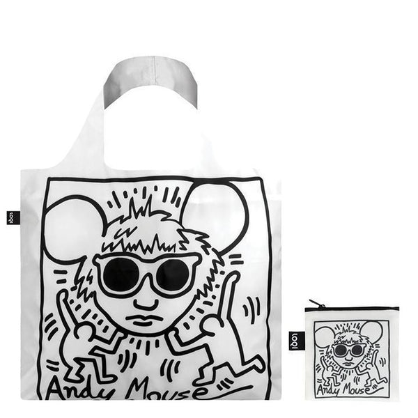"Keith Haring ""Andy Mouse"" Tote Bag and zipper bag"