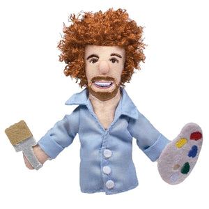 Bob Ross Magnetic Finger Puppet
