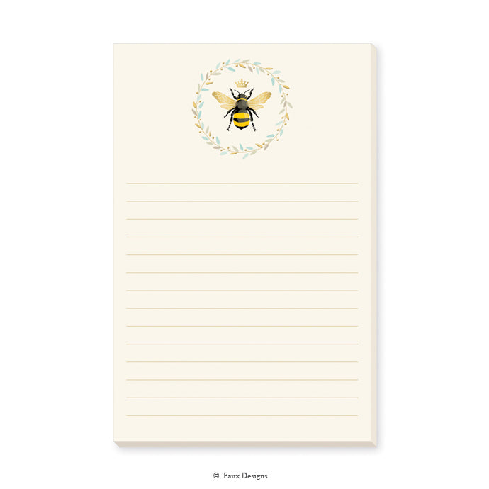 Lined Memo Pad: Queen Bee