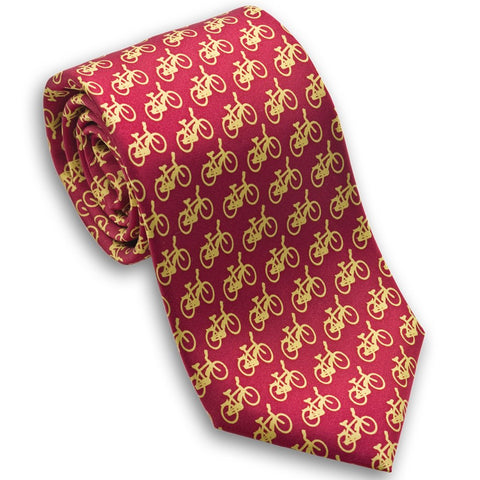 Bicycles Silk Necktie