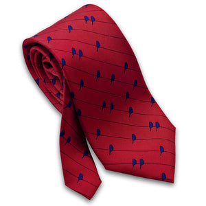 Birds on a Wire Silk Necktie