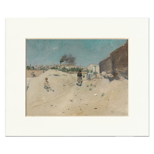 "Matted Print: ""Outskirts of Madrid"" by William Merritt Chase"