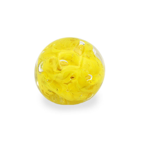 Glass Paperweight, Yellow