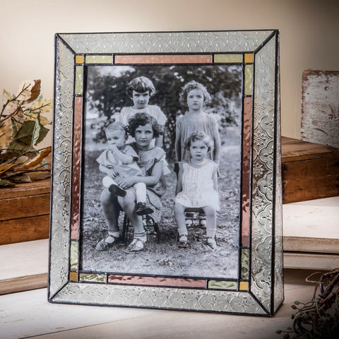 Stained Glass Picture Frames: Vintage Colors
