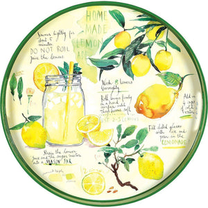Round Lemonade Serving Tray