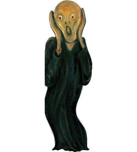 "Edvard Munch ""The Scream"" Die-Cut Notecard"