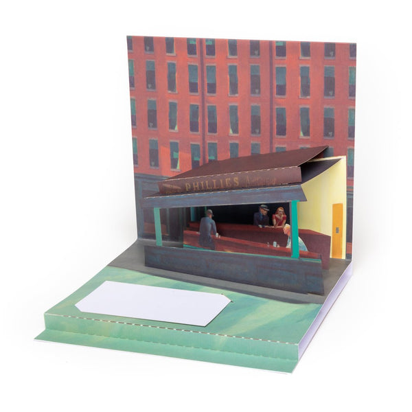 "Edward Hopper ""Nighthawks"" Pop-Up Greeting Card"