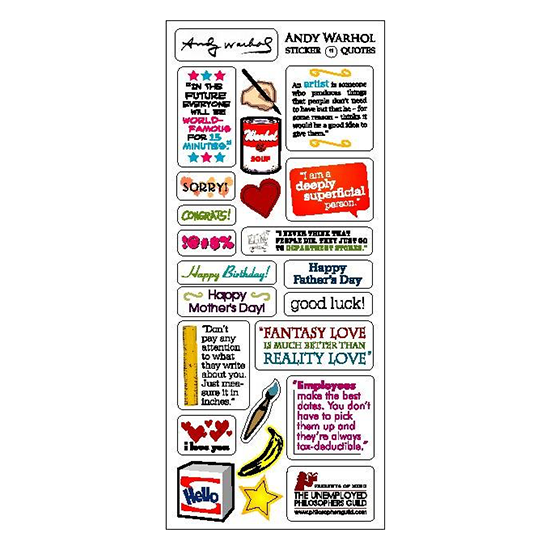 Andy Warhol Die-Cut Notecard with Stickers