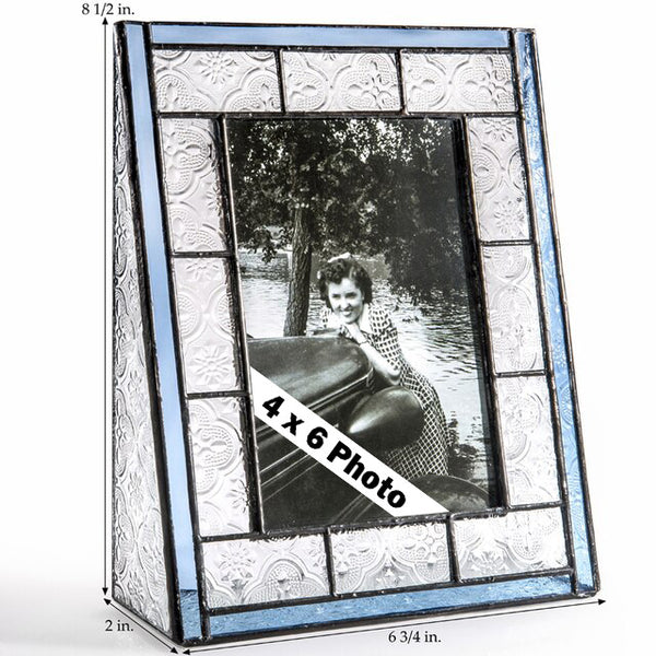 Stained Glass Picture Frames: Vintage Blue
