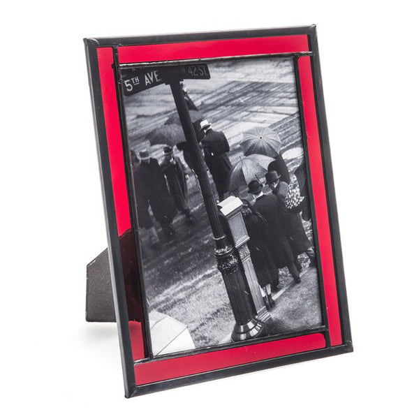 Red Stained Glass Picture Frames