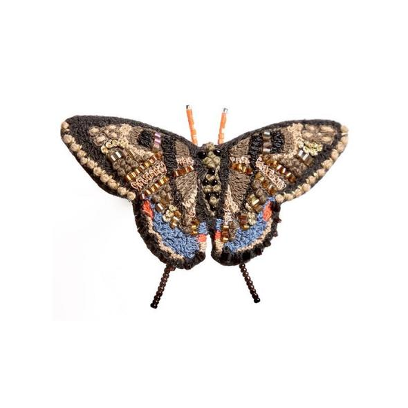 Swallowtail Butterfly Embroidered Brooch