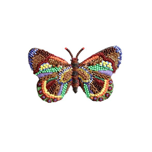 Tinsel Butterfly Embroidered Brooch