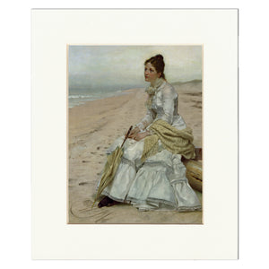 "Matted Print: ""Waiting for William"" by John George Brown"