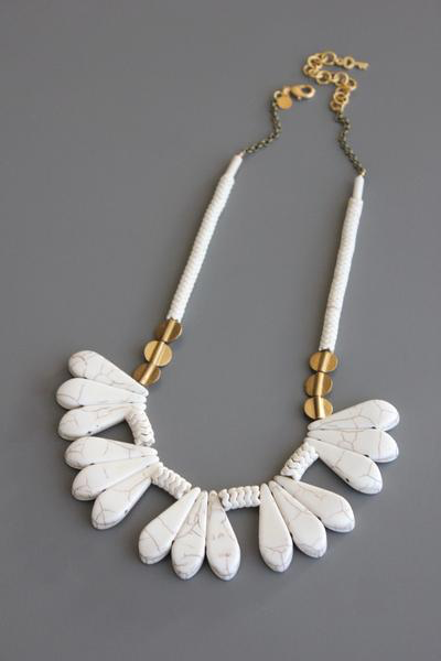 Magnesite & Brass Necklace