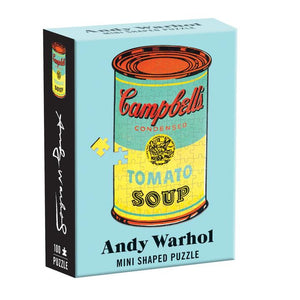 "Andy Warhol Mini Shaped Jigsaw Puzzle ""Soup"" Box Front"