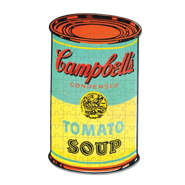"Andy Warhol Mini Shaped Jigsaw Puzzle ""Soup"""